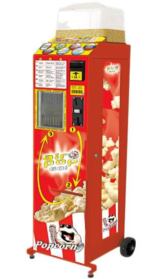 Popcorn Vending Machine hire crop